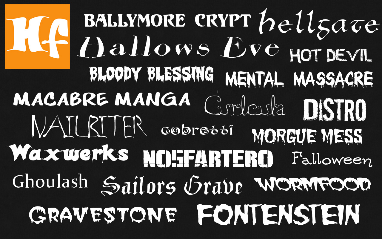 Free Halloween Fonts Collection Adds 5 New Fonts in Version 4 Update Image