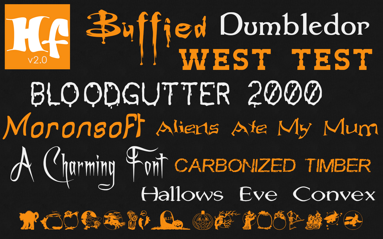 10 New Fonts Added to Free Halloween Fonts Collection on Mac App ...