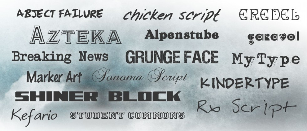 Free fonts for Mac and Windows