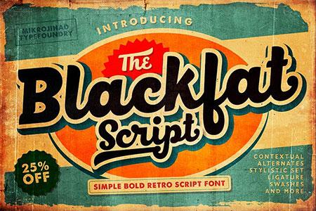 Blackfat Script font