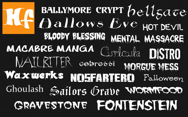 Halloween Fonts for Mac and Windows