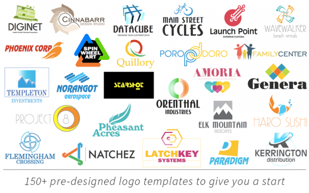 Logo Pop includes pre-designed logo templates to give you a quick start