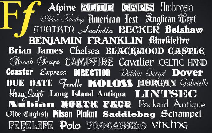 1000 fonts download