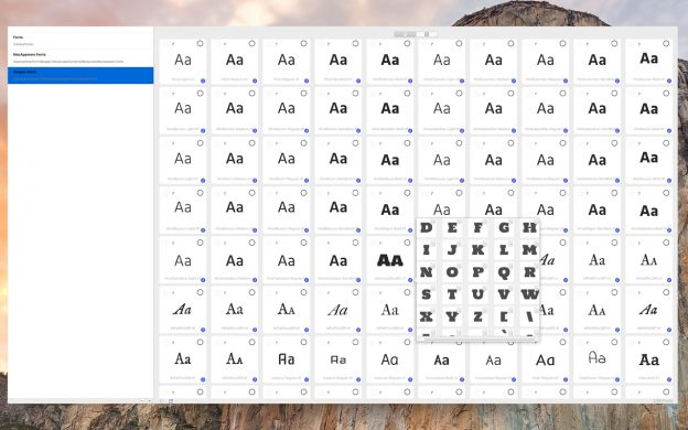 Mac Font Manager Deluxe allows you to view which characters are supported in each font