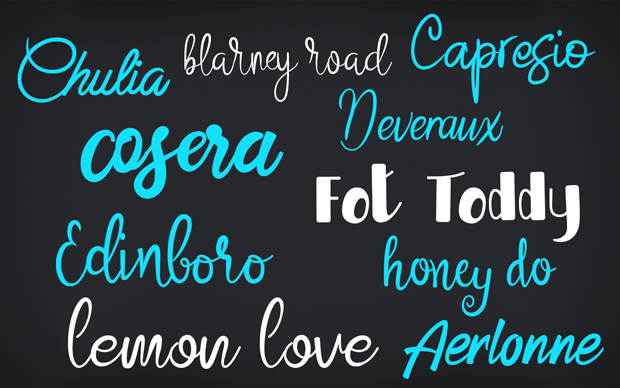 Cursive fonts for commercial use