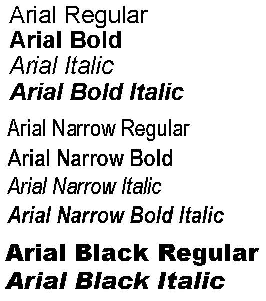 Arial Typeface