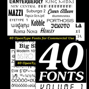 40 Fonts - Volume 1