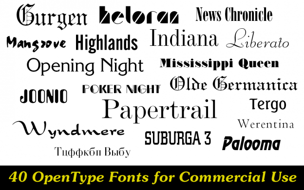 40 commercial use fonts